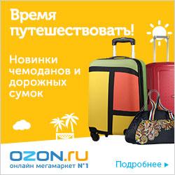 Время путешествовать! Новинки чемоданов и дорожных сумок на OZON.ru