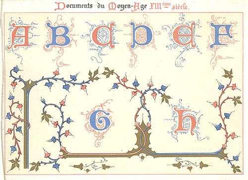 Ornementation des Manuscrits au Moyen Age. XIII Siecle