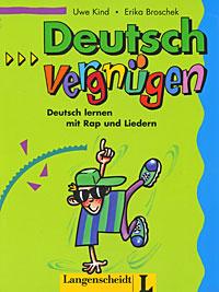 Deutschvergnugen: Deutsch lernen mit Rap und Liedern12296407Deutschvergnugen ist ein musikalisches Zusatzmaterial fur die Grundstufe Deutsch als Fremdsprache. richtet sich an Lerner aller Ausgangssprachen. kann ohne lange Vorbereitung in den Unterricht eingebaut warden. schafft eine entspannte Lernatmosphare. enthdlt wichtige Sprechakte, die mit 23 Liedern und Raps auf spritzige Art und Weise eingeubt warden. bietet zur leichteren Texterschliessung ein Glossar Deutsch-Englisch. ist einfach Deutschverqnuqen…