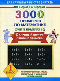 3000 примеров по математике. Счет в пределах 10. 1 класс12296407В пособии собраны 3000 новых примеров по математике по одной из базовых для первого класса тем - Счет в пределах 10. Как и любая другая тема, она требует внимательного осмысления и прочного закрепления. Особенностью этого издания является крупный шрифт. Как показывает практика, ученик полностью усвоил тему, если решает пример и записывает ответ в течение 4-7 секунд. В этом случае можно говорить, что навык счета доведен до автоматизма. На каждой странице приведены 6-7 столбиков, в среднем по 35 примеров. В конце столбика записывается время, потраченное учеником на решение. В левом нижнем углу обозначены контрольные цифры: идеальное время решения одного столбика, удовлетворительное и результат, который должен заставить ученика задуматься. Учителю сложно проверить такое количество примеров, поэтому лучше, если время, затраченное на решение каждого столбика, отметят взрослые дома. Чтобы достичь хороших результатов, каждый день нужно решать по одной странице. Пособие...