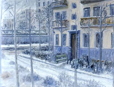 "Mikhail Roginsky ""Pedestrian Zone"". Painting"