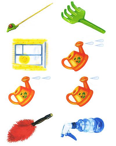 Наклейки для оформления групповой и спальной комнат в детском саду