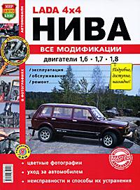 Автомобили Нива всех модификаций с двигателями объемом 1, 6, 1, 7 и 1, 8 л. Эксплуатация, обслуживание, ремонт