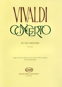 Vivaldi: Concerto in do minore rv 441 per flauto dolce (flauto traverso) e pianoforte