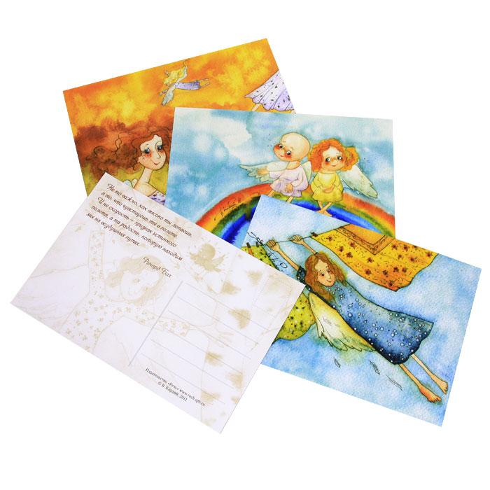Душа родилась крылатой (набор из 16 открыток)