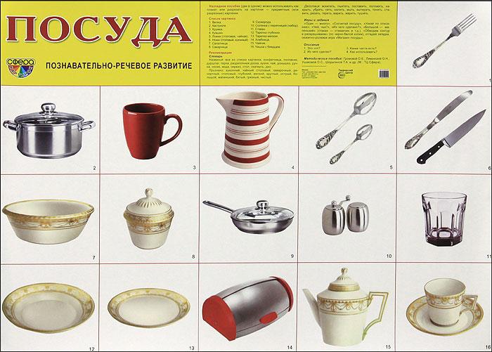 Посуда. Плакат