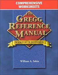 Gregg Reference Manual, Comprehensive Worksheets