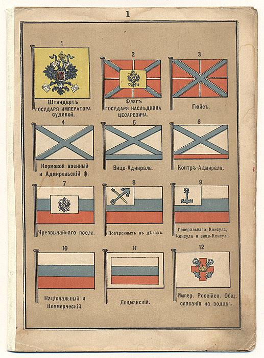 Русские флаги и флаги зарубежных государств. Альбом литографий (начало ХХ века), Россия