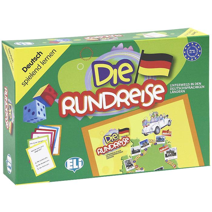 Die Rundreise (набор из 66 карточек)12296407Die Rundreise ist ein unterhaltsames Spiel, mit dem die Spieler ihr Wissen uber die deutschsprachigen Lander erweitern konnen, so wie auf einer richtigen Reise. Bestandteile: ein Spielbrett mit einer vorgezeichneten Reiseroute durch Osterreich, Deutschland und die Schweiz; unterwegs werden Stadte und Sehenswurdigkeiten, aber auch Feste und Brauche vorgestellt; zwei Kartenstosse von je 66 Karten (Niveau A2 und Bl) mit Fragen zu Grammatik, Landeskunde, Geographie, Redewendungen, Wortschatz und Ratseln; zwei Wurfel; eine Spielanleitung. Die Spielanleitung enthalt die Spielregeln, Vorschloge fur alternative Einsatzmoglichkeiten, zusatzliche Informationen und Vertiefungen zur Reiseroute des Spiels und eine Liste von Internetadressen. В комплект также входят 2 картонных кубика и игровое поле. Размер карточки: 6 см х 8 см. Размер кубика: 4,5 см х 4,5 см х 4,5 см. Размер игрового поля: 40 см х 60 см.