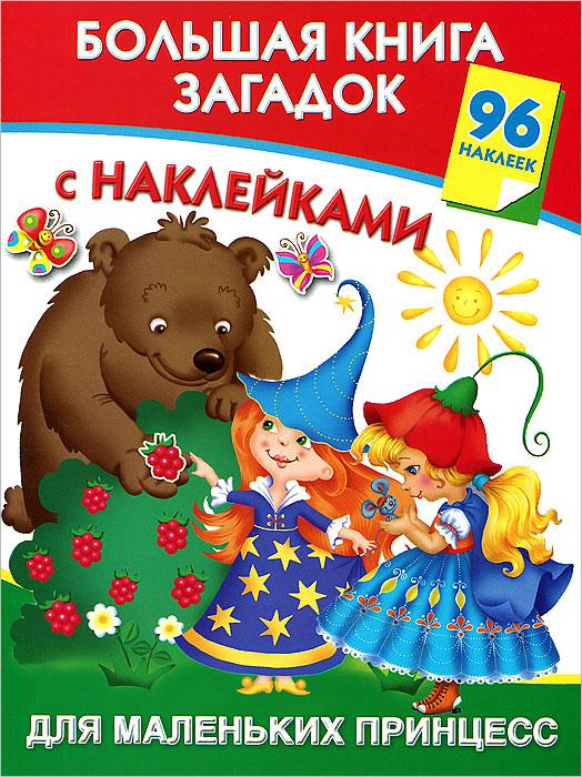 Большая книга загадок с наклейками для маленьких принцесс. В. Г. Дмитриева