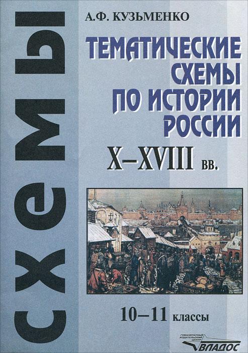 Тематические схемы по истории России X-XVIII вв. 10-11 классы