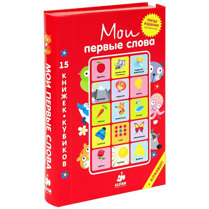 Мои первые слова. Русский язык (комплект из 15 книжек-кубиков)