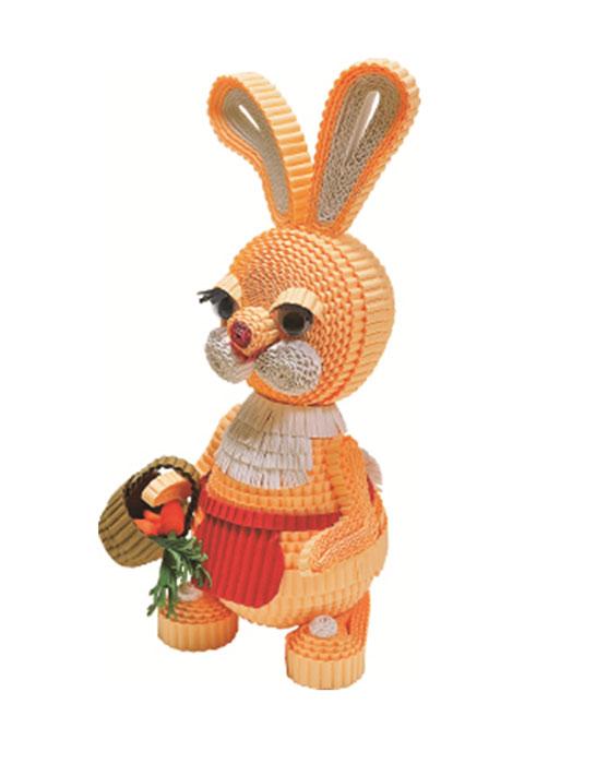 Заяц и зайчиха (78 полосок гофрокартона)