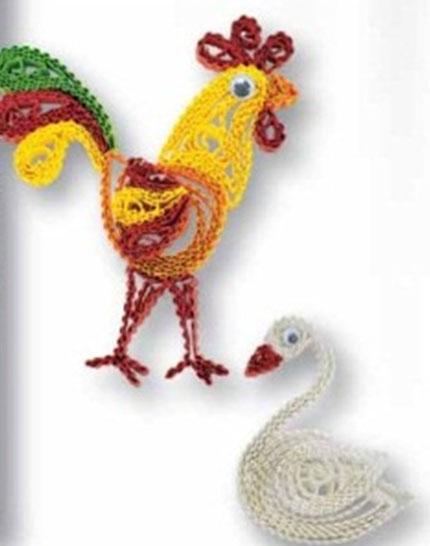 Птицы (60 полосок гофрокартона)