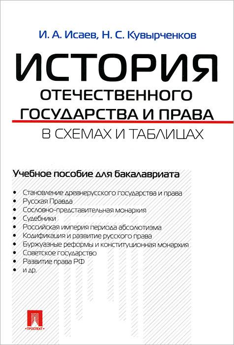 История отечественного государства и права в схемах и таблицах. Учебное пособие