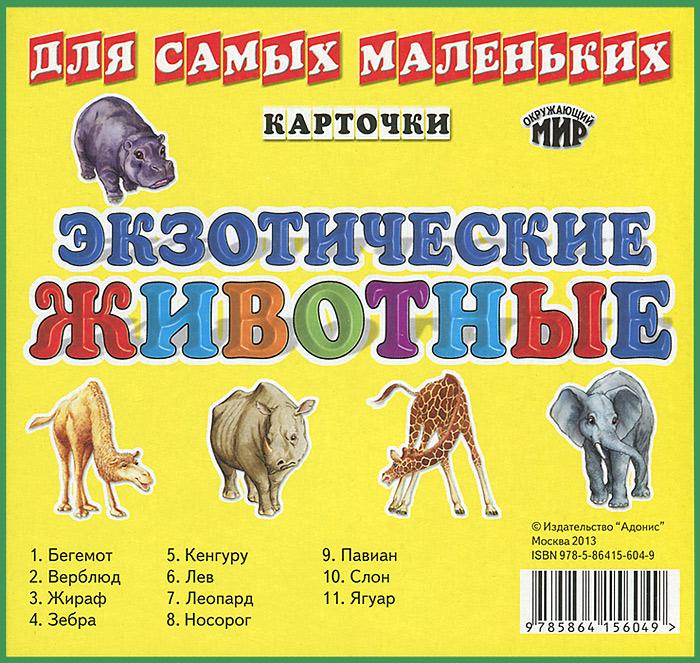 Экзотические животые (набор из 11 карточек)