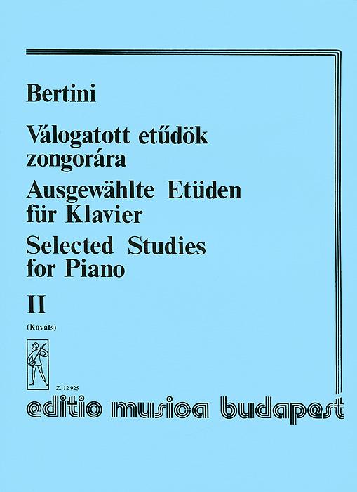 Bertini: Valogatott etudok zongorara II