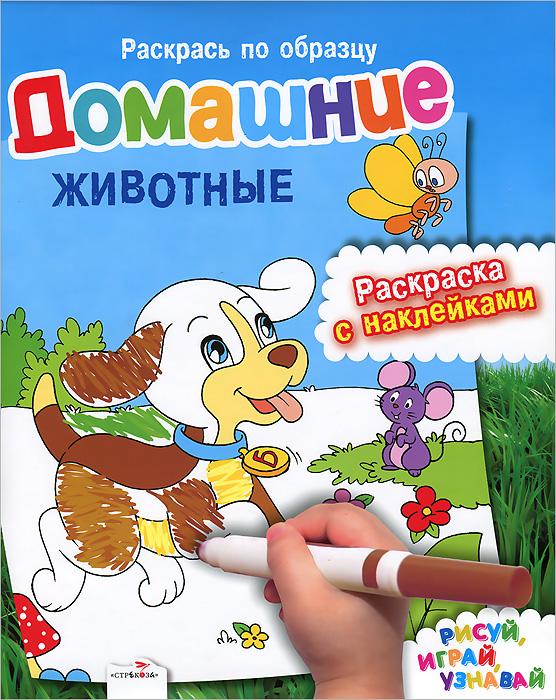 Домашние животные. Раскраска с наклейками