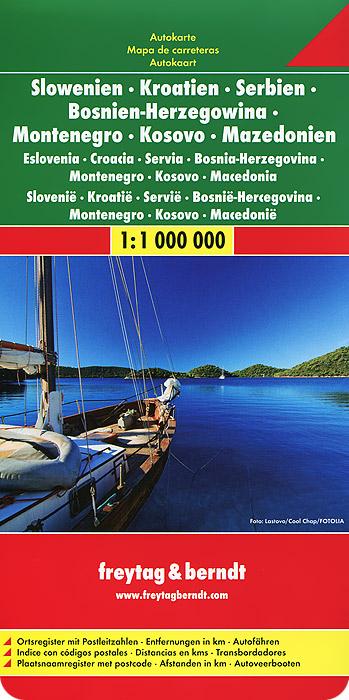 Slovenia: Croatia: Serbia: Bosnia-Herzegovina: Montenegro: Kosovo: Macedonia: Road Map.