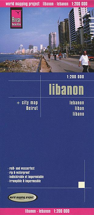Lebanon. Карта.