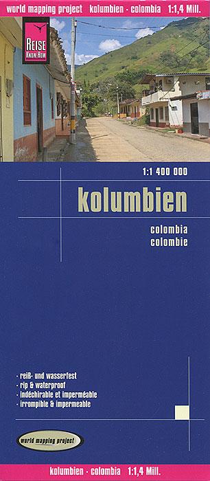 Kolumbien. Карта