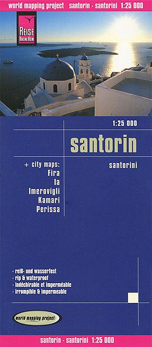 Santorin. Карта.