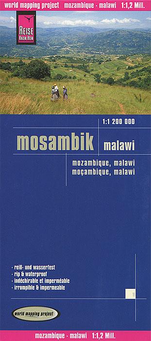 Mosambique: Malawi. Карта.