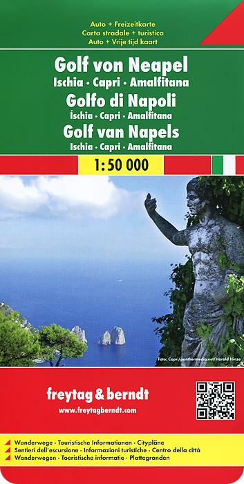 Golf von Neapel: Ischia: Capri: Amalfitana: Road and Leisure Map