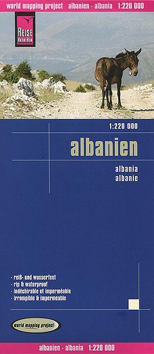 Albanien. Карта.