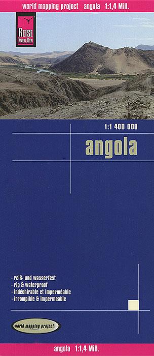 Angola. Карта.