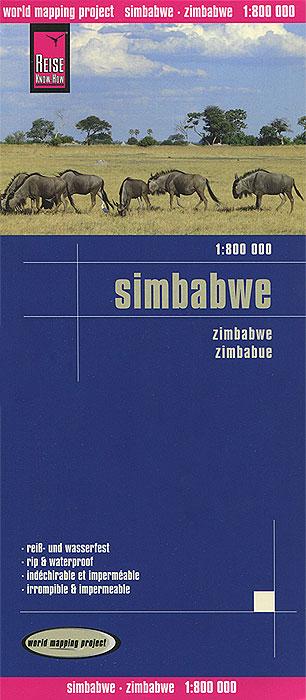 Simbabwe. Карта.