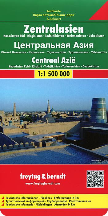 Central Asia: Southern Kazakhstan, Kyrgyzstan, Tagikistan, Turkmenistan, Uzbekistan: Road Map.