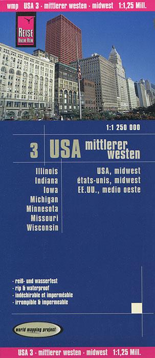 USA. Mittlerer Westen. Карта