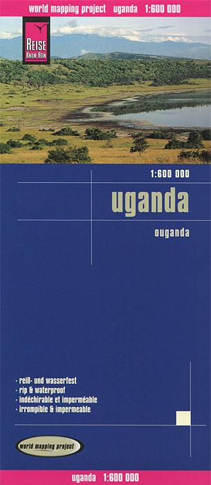 Uganda. Карта.