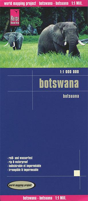 Botswana. Карта.