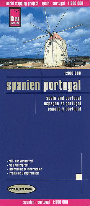 Spanien. Portugal. Карта.