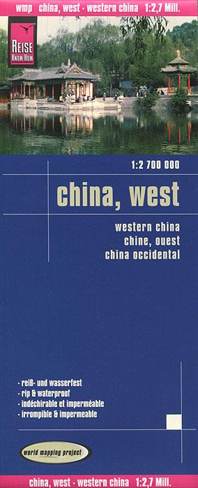 China, West. Карта.