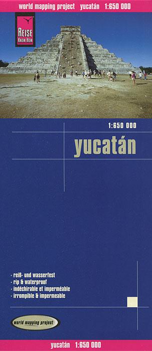 Yucatan. Карта.