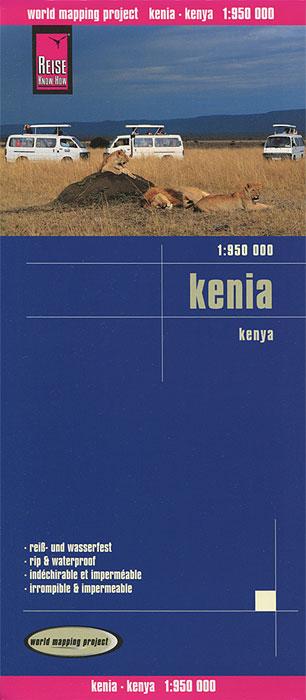 Kenia. Карта.