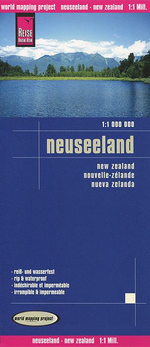 Neuseeland. Карта.