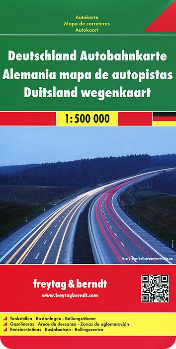 Germany Motorway Map.