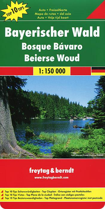 Bayerischer Wald: Auto + Freizeitkarte.