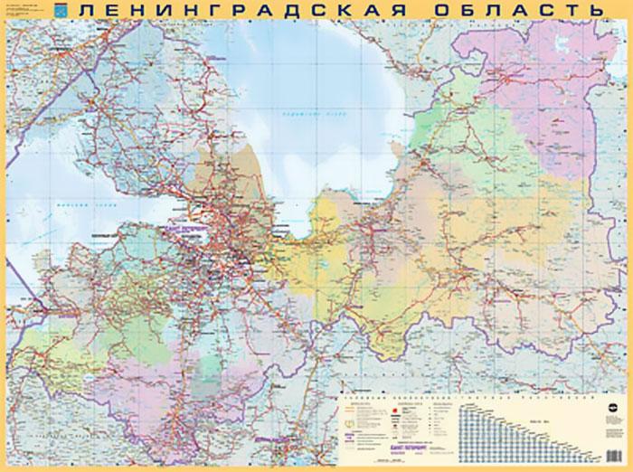 Ленинградская область. Карта