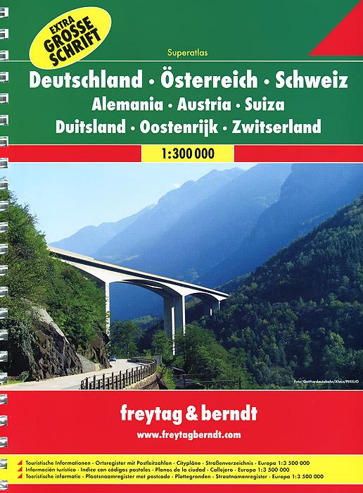 все цены на  Germany, Austria, Switzerland: Road Atlas  в интернете
