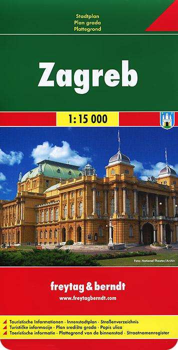 Zagreb: Stadtplan.