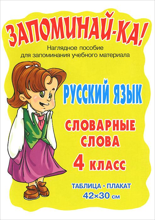 Русский язык. 4 класс. Словарные слова. Плакат