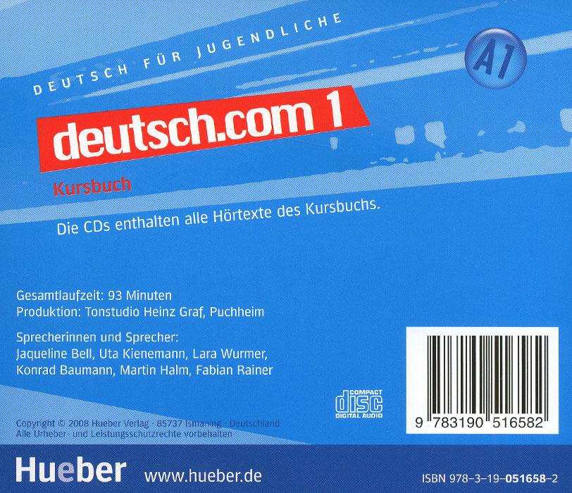 Deutsch. com 1: Kursbuch:А 1 (аудиокурс на 2 CD)
