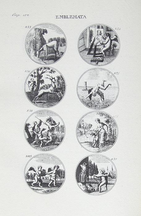 Избранные Эмблемы и символы на российском, латинском, французском, немецком и английском языках. Издание 1811 года. Редкость