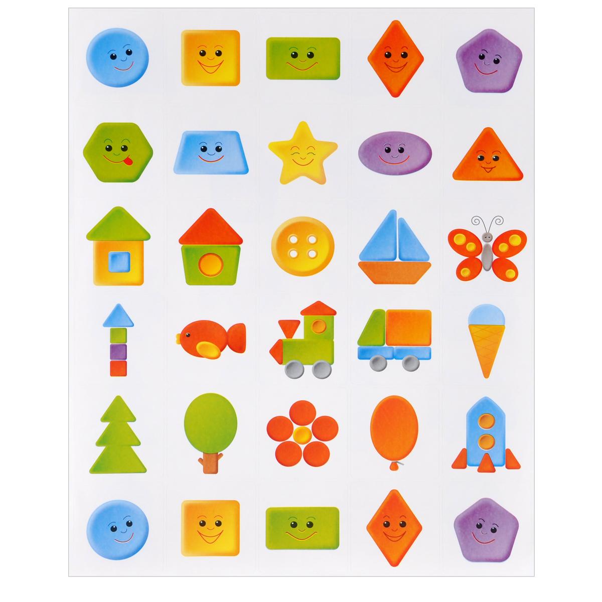 """Наклейки на шкафчики для детских садов. """"Веселая геометрия"""""""
