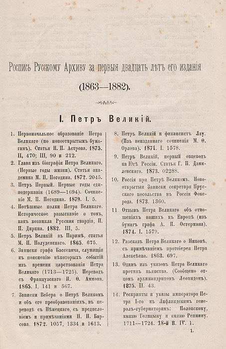 Русский Архив. 1863 - 1882